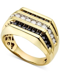 Macy's Men's White And Black Diamond 1 Ct. T.W. Ring Multi