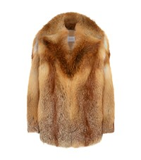 Magda Butrym Sochi Fur Coat Gold