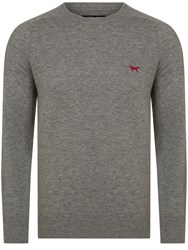 Wolsey Merino Plain Crew Neck Pull Over Jumpers Grey