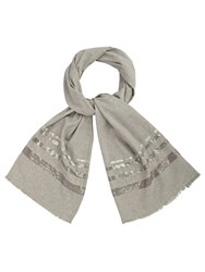 Phase Eight Josie Sequin Stripe Scarf