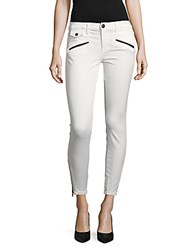 Current Elliott Solid Skinny Jeans Dirty White