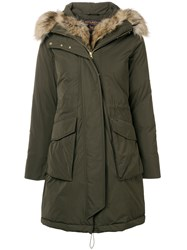 Woolrich Military Parka Coat Green