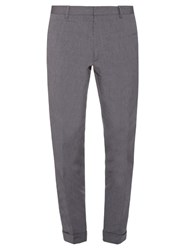 Jil Sander Adriano Striped Cotton Trousers Grey