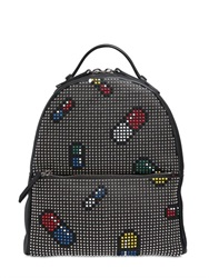 Les Petits Joueurs Mick Pills Studded Leather Backpack