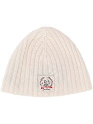 Pringle Of Scotland Cashmere Logo Beanie White