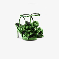 Marco De Vincenzo Braided Ankle Strap Sandals Green