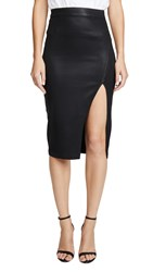 7 For All Mankind Pencil Skirt B Air Black Coating
