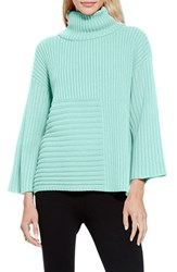Women's Vince Camuto Ribbed Turtleneck Sweater Aqua Shade