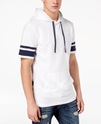 American Rag Men's Striped Hoodie Created For Macy's Bright White