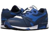 Diadora N9000 Arrowhead Saltire Navy Athletic Shoes Blue