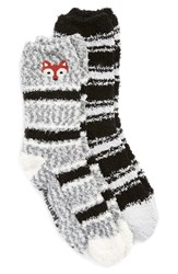 Women's Kensie 'Butter Fox' Grip Crew Socks 2 Pack