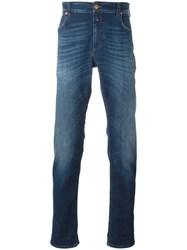 Closed Folded Hem Tapered Jeans Blue