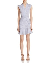 Lucy Paris Kimmy Ruched Dress 100 Bloomingdale's Exclusive White Blue