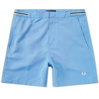 Fred Perry Bomber Tape Swim Short Blue