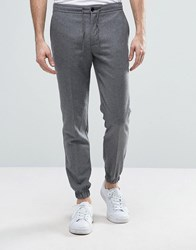 Kiomi Cuffed Wool Jogger Grey