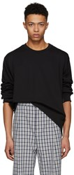 3.1 Phillip Lim Black Re Constructed Sweatshirt