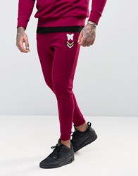 Good For Nothing Joggers In Skinny Fit Burgundy Red