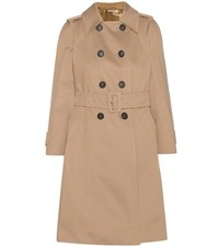 Miu Miu Cotton Trench Coat Beige
