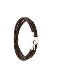 Shaun Leane Quill Wrap Bracelet Leather Sterling Silver Brown