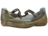 Naot Footwear Kirei Oily Olive Suede Vintage Smoke Leather Black Pearl Leather Women's Maryjane Shoes