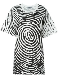 Jeremy Scott Oversized Fingerprint T Shirt Black