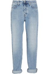 Mih Jeans The Halsy High Rise Straight Leg Jeans Blue