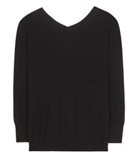 Isabel Marant Etoile Kinsey V Neck Cotton And Wool Sweater Black