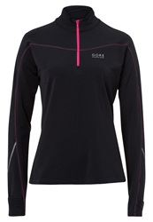 Gore Running Wear Long Sleeved Top Black Magenta