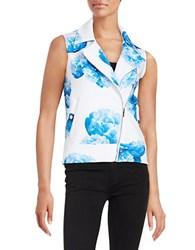 Marc New York Floral Scuba Vest Purple