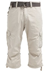 Schott Nyc Cargo Trousers Ciment White