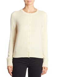 Lord And Taylor Petite Basic Crewneck Cashmere Cardigan Sunbeam
