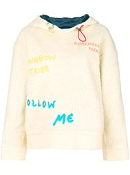 Mira Mikati Embroidered Hoodie Nude And Neutrals