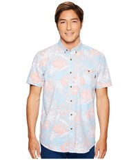 Rip Curl Sun Glaze Short Sleeve Shirt Blue Men's Short Sleeve Button Up
