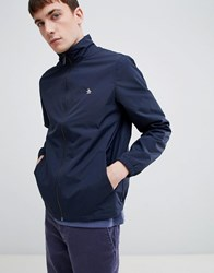 Original Penguin Lightweight Nylon Harrington Jacket With Small Logo In Navy