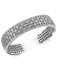 Effy Collection Balissima By Effy Diamond Cuff Bracelet 3 5 Ct.T.W. In Sterling Silver