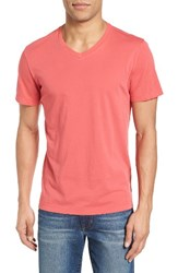 Velvet By Graham And Spencer Men's 'Samsen' V Neck T Shirt Crayon