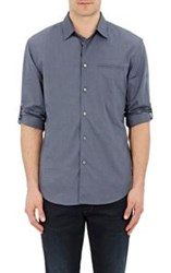 John Varvatos Oxford Weave Shirt Blue