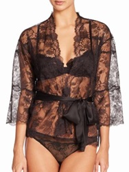 Natori Chantilly Lace Wrap Black