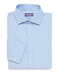 Ralph Lauren Purple Label Pinstripe Dress Shirt Blue White