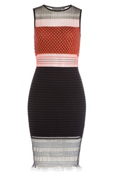Alexander Wang Knitted Stretch Dress With Tulle Multicolor