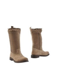 Twin Set Simona Barbieri Ankle Boots Khaki