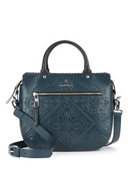 Nanette Lepore Highland Park Leather Satchel Denim