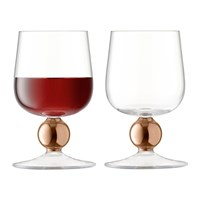 Lsa International Oro Red Wine Glass Set Of 2 Rose Gold
