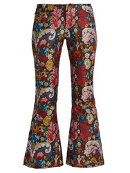 Marques Almeida Floral Brocade Cropped Trousers Multi