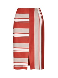 Eastex Cutabout Stripe Skirt Red
