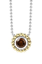 Women's Lagos Stone Pendant Necklace Smokey Quartz