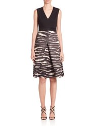 Piazza Sempione Printed Skirt Sleeveless Dress Black Ivory