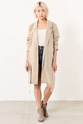 Bdg Marci Canvas Trench Coat Tan