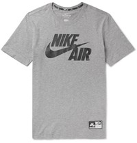 Nike Sportswear Air Printed Cotton Jersey T Shirt Gray