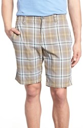 Tommy Bahama Playa Tech Classic Fit Plaid Shorts Khaki Sands
